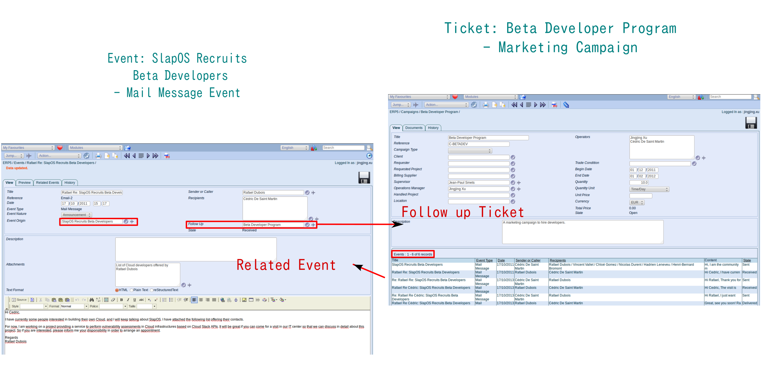 Tickets example: Beta Developer Program